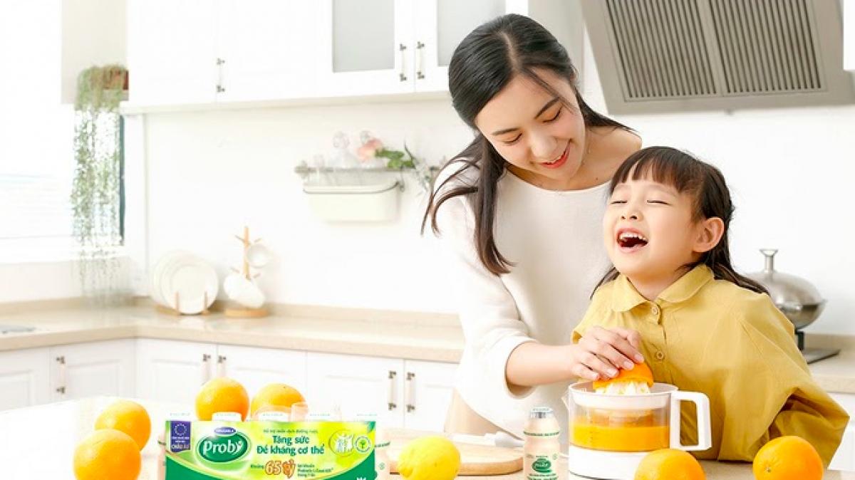 Chế độ dinh dưỡng đảm bảo giúp tăng sức đề kháng cho cả nhà.