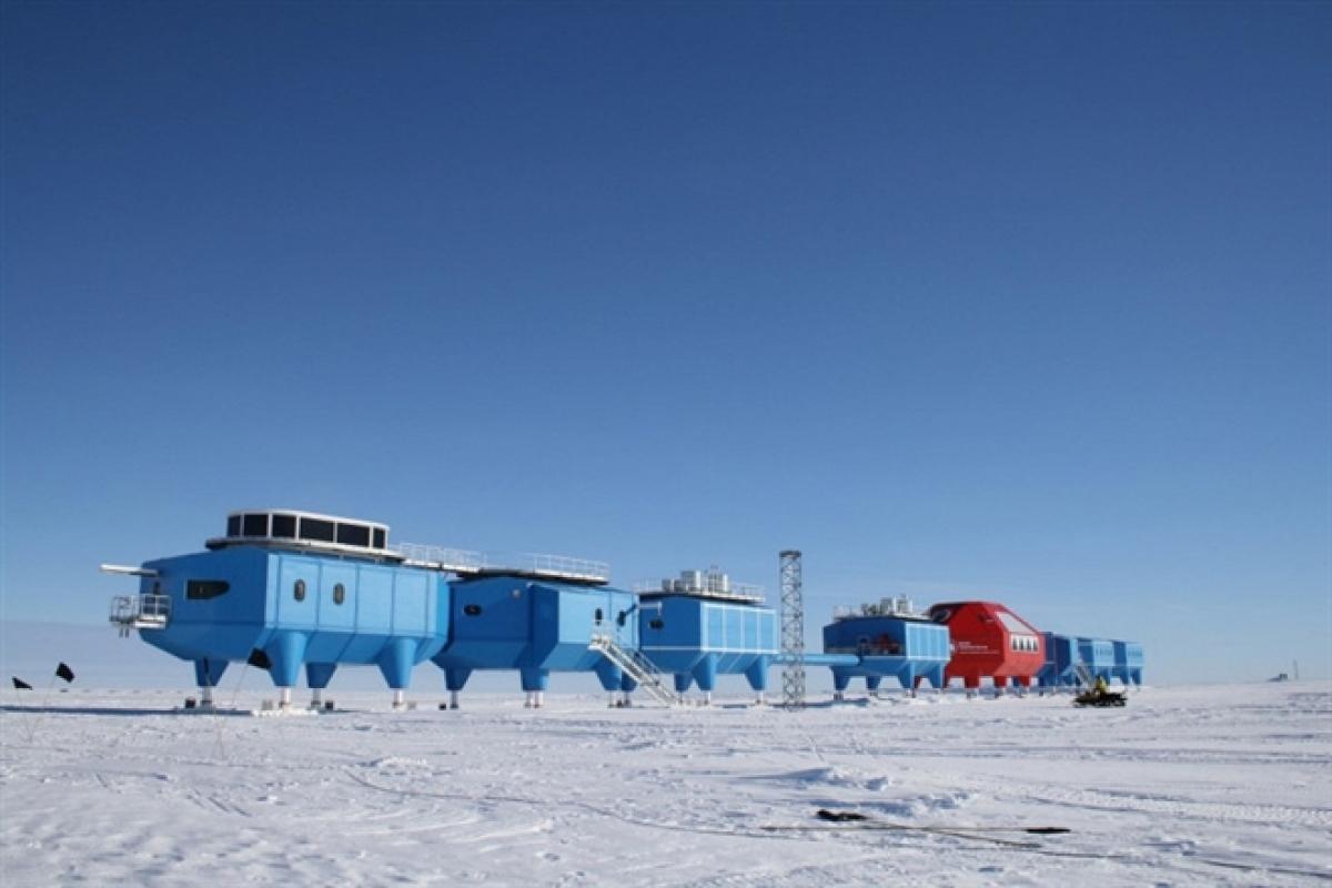 Trạm Vostok của Nga trên Nam Cực.