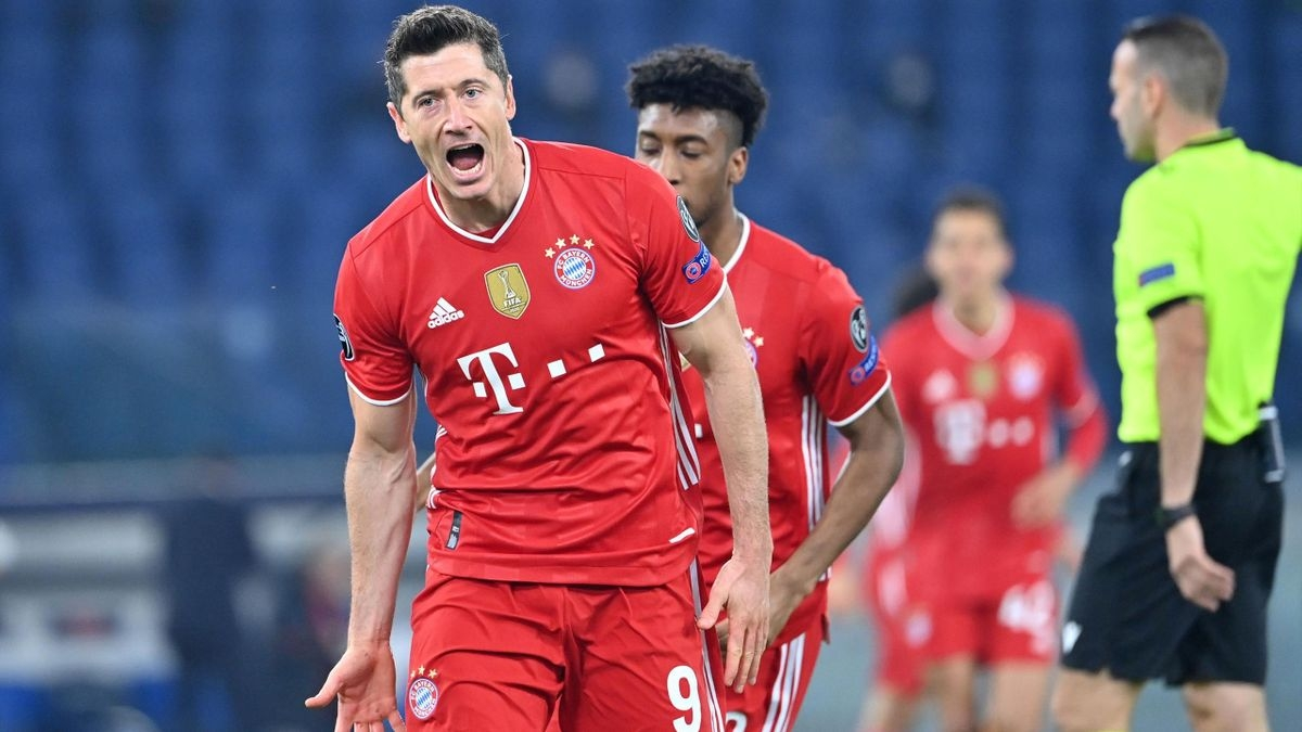 Lewandowski đóng góp 1 bàn trong chiến thắng dễ dàng của Bayern trước Lazio. (Ảnh: Getty).