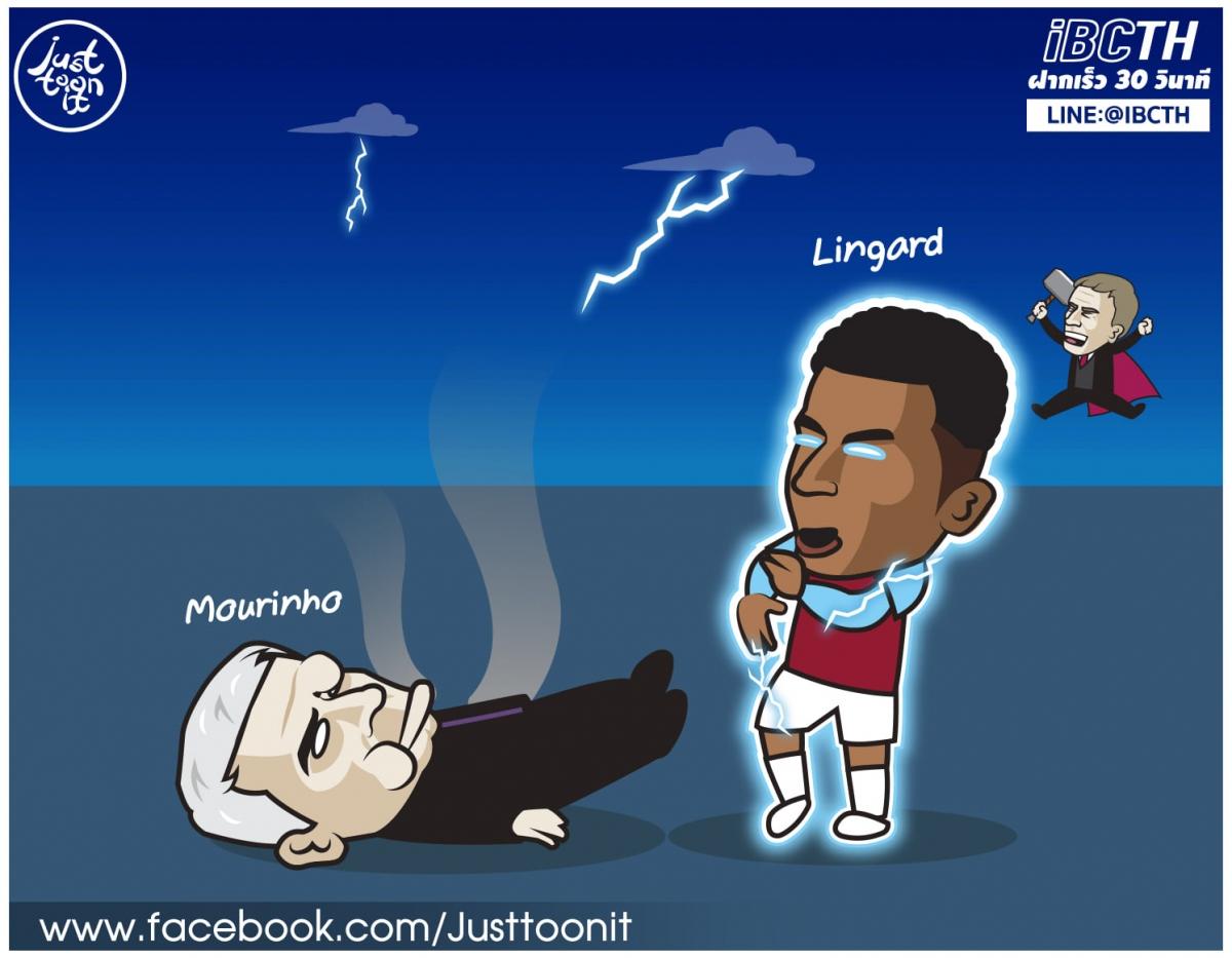 """Lingard """"đánh ngã"""" HLV Mourinho."""