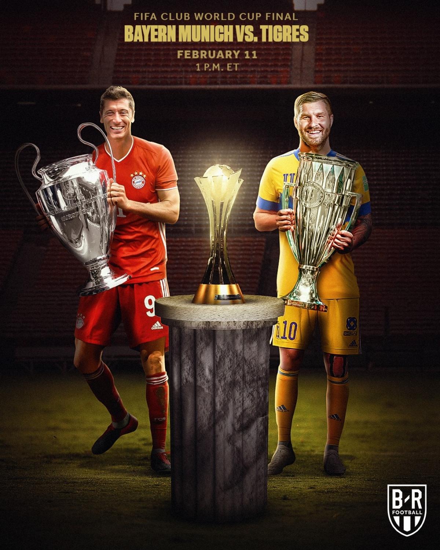 Trận chung kết Club World Cup sẽ diễn ra giữa Bayern Munich và Tigres. (Ảnh: Bleacher Report).