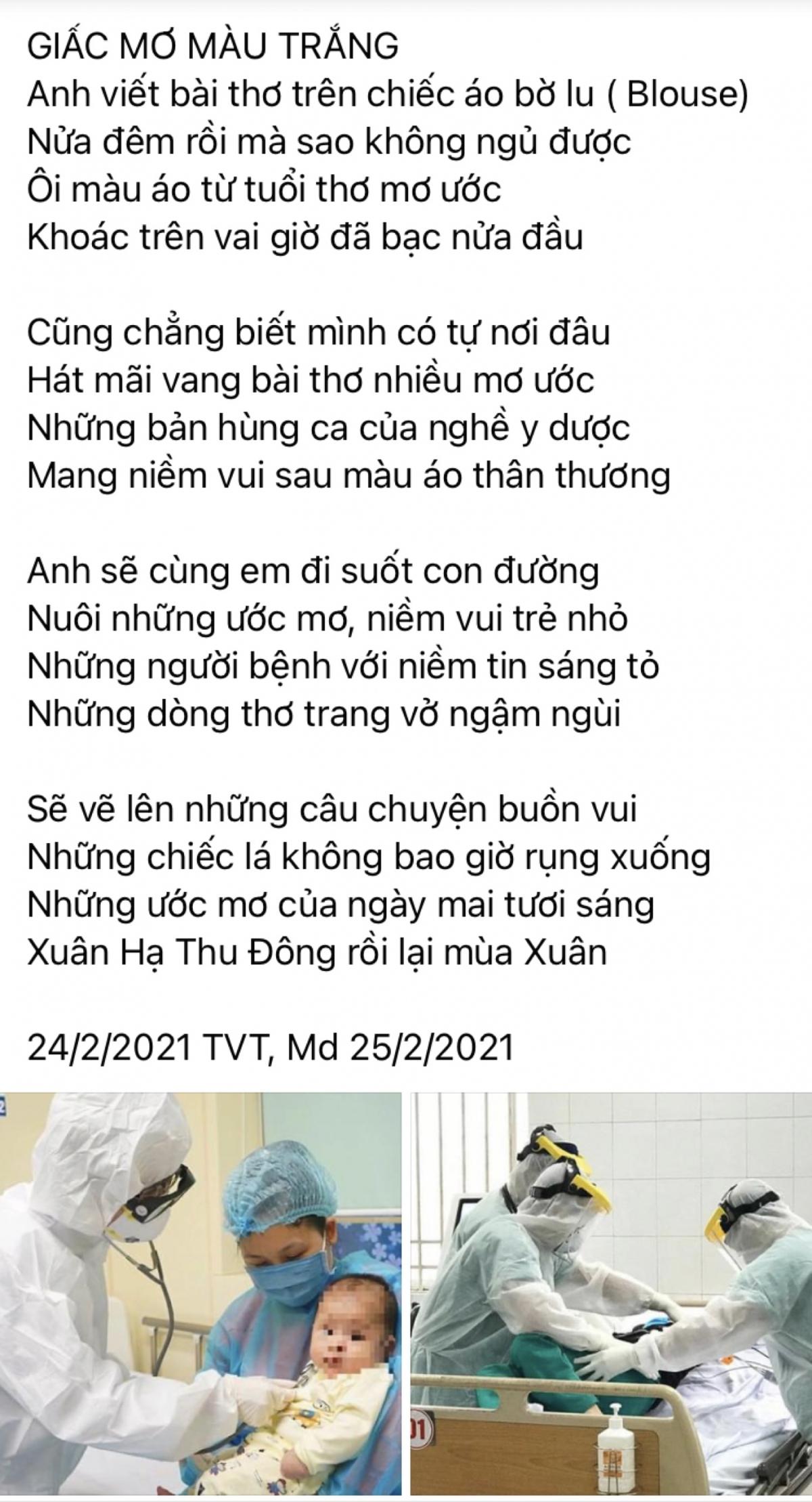 """Bài thơ """"GIẤC MƠ MÀU TRẮNG"""" của Thứ trưởng Trần Văn Thuấn gửi các thầy, cô và những người đồng nghiệp của mình."""
