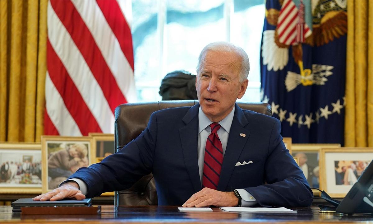 Tổng thống Mỹ Joe Biden phát biểu trước khi ký một số sắc lệnh tại Nhà Trắng ngày 28/1. Ảnh:Reuters