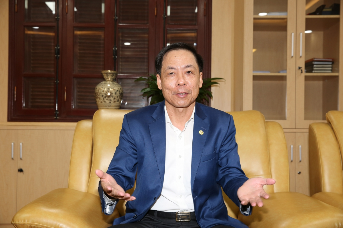 Phó Tổng Thanh tra Chính phủ Trần Ngọc Liêm trả lời phỏng vấn Cổng TTĐT Chính phủ. Ảnh: VGP/Lê Sơn