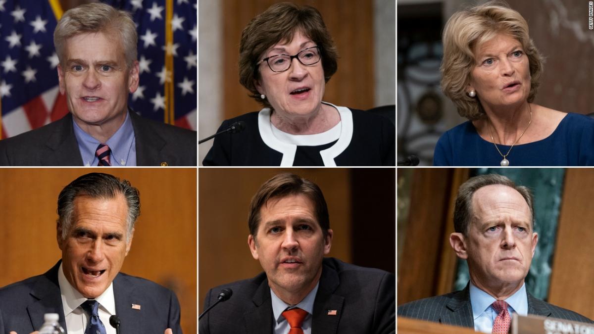 6 Thượng nghị sỹ Cộng hòa khẳng định phiên tòa luận tội cựu tổng thống Trump là hợp hiến. Ảnh: CNN