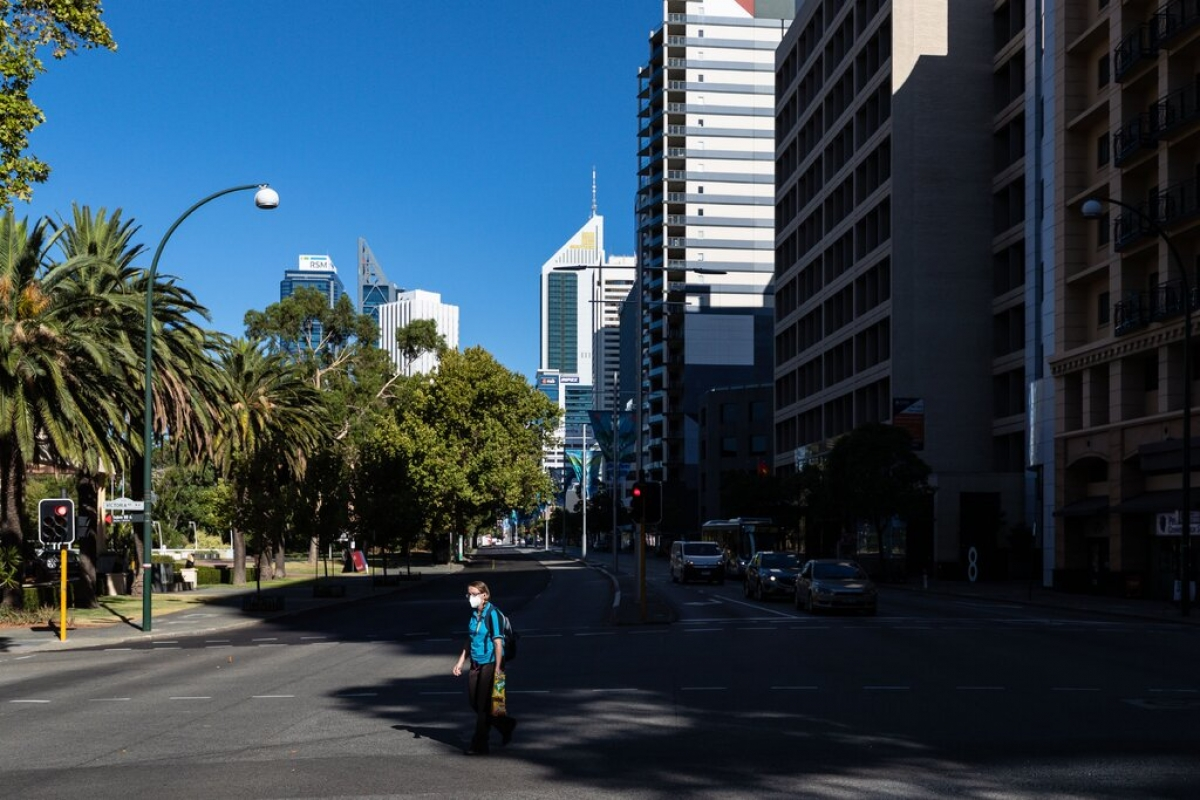 Perth, Australia trong ngày phong tỏa đầu tiên. Ảnh: EPA