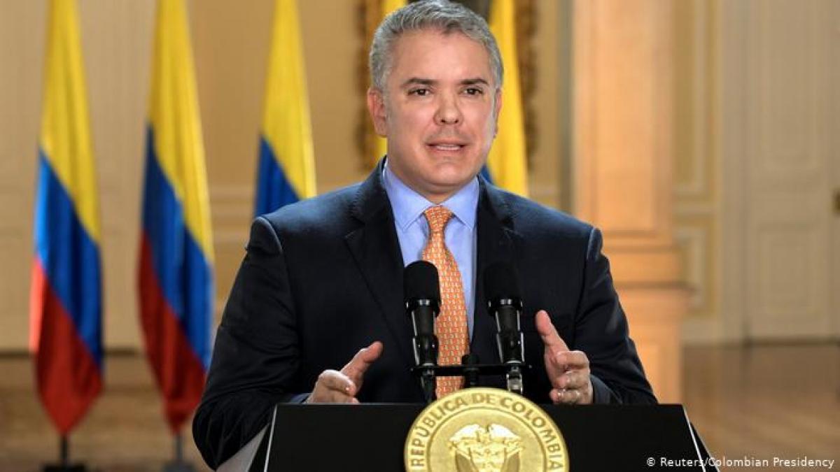 Tổng thống Colombia Ivan Duque. Ảnh: Reuters