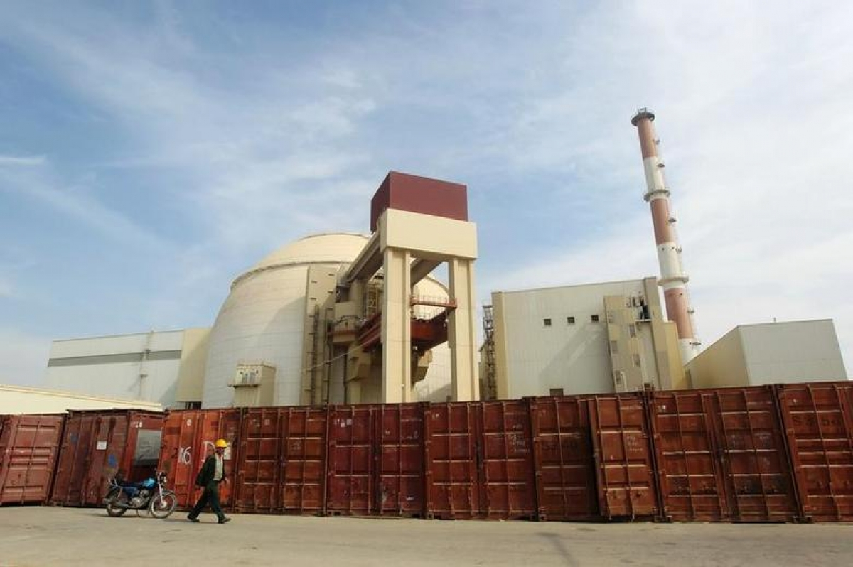 Nhà máy điện hạt nhân Bushehr ở Iran. Ảnh: Reuters