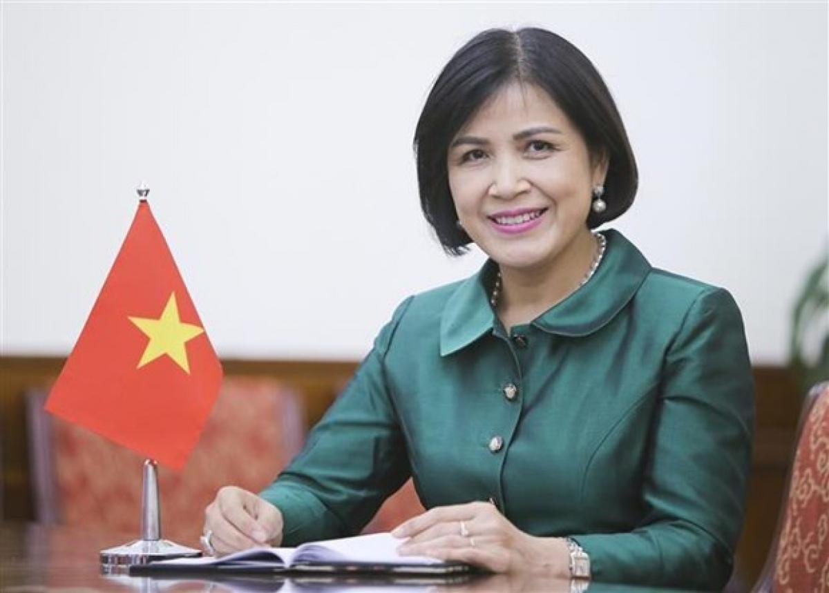 Ambassador Le Thi Tuyet Mai, head of the Vietnamese mission in Geneva (Photo: VNA)
