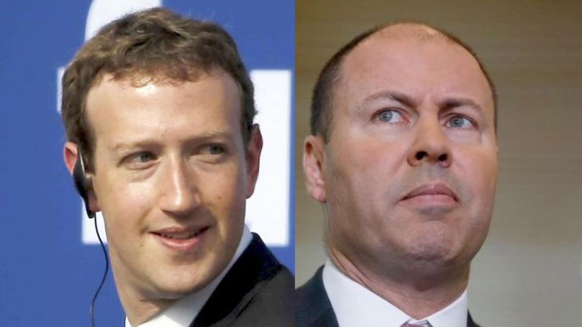 Mark Zuckerberg, ông chủ Facebook và Bộ trưởng Ngân khố Australia Josh Frydenberg, hai nhân vật chính trong cuộc đàm phán giữa Chính phủ Australia và Facebook. (Nguồn Reuters và ABC)