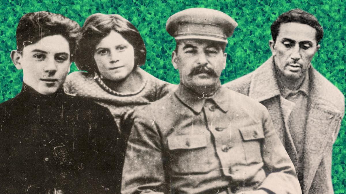 Joseph Stalin (đội mũ) và các con của mình (từ trái qua): Vasily, Svetlana, Yakov. Ảnh: Getty, Global Look Express.