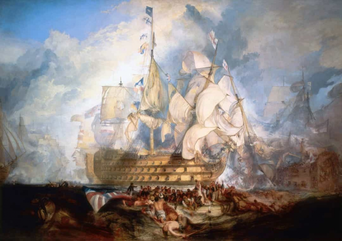 Trận Trafalgar diễn ra ngày 21/10/1805 giữa Hải quân Hoàng gia Anh và các hạm đội của Hải quân Pháp và Tây Ban Nha. Phía Anh đã giành chiến thắng quyết định nhưng đã mất đi Phó Đô đốc Lord Nelson, người đã bị bắn chết ngay trước khi cuộc chiến kết thúc.