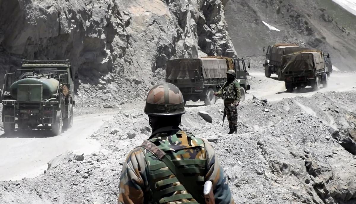 Binh sĩ Ấn Độ ở vùng Ladakh. Ảnh: ANI.