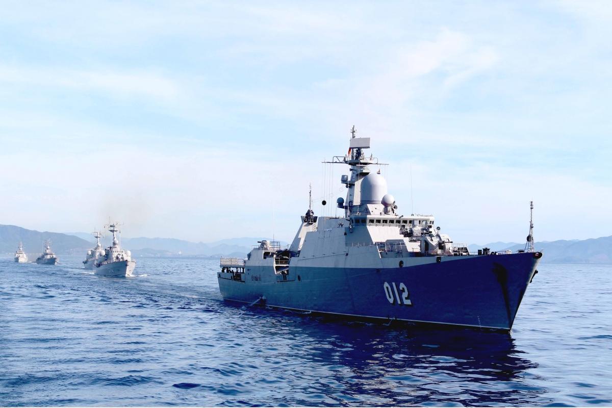 Biên đội tàu Hộ vệ tên lửa Lữ đoàn 162.
