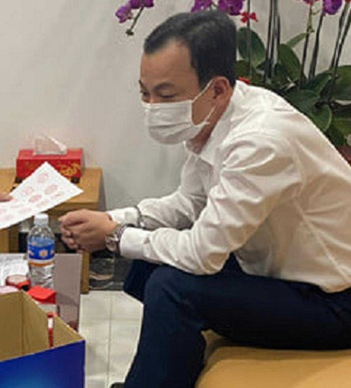 Đối tượng Lê Thanh Trung vừa bị bắt giữ. (Ảnh: Công an Đồng Nai cung cấp)