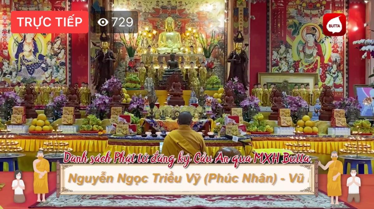 Một khóa lễ cầu an trực tuyến do GHPGVN tổ chức được tường thuật trực tiếp qua Fanpage kênh truyền hình An Viên.