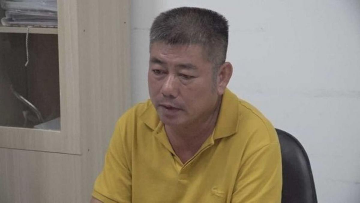 Nguyễn Hữu Tứ, một trong những đối tượng cộm cán trong đường dây mua bán hàng triệu lít xăng dầu giả vừa bị bắt giữ.