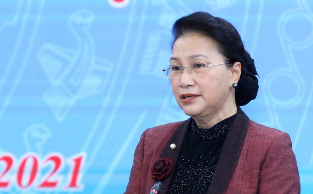 Chủ tịch Quốc hội Nguyễn Thị Kim Ngân (Ảnh: Quang Vinh)