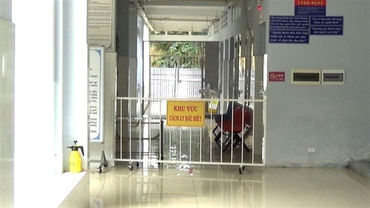 Khu vực cách ly ở Bệnh viện Đa khoa Bạc Liêu.