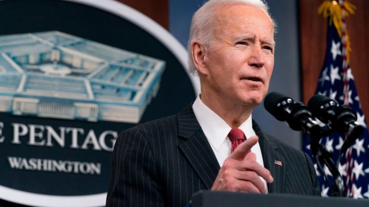 Tổng thống Joe Biden có hành động quân sự công khai đầu tiên kể từ khi nhậm chức. Ảnh: AP