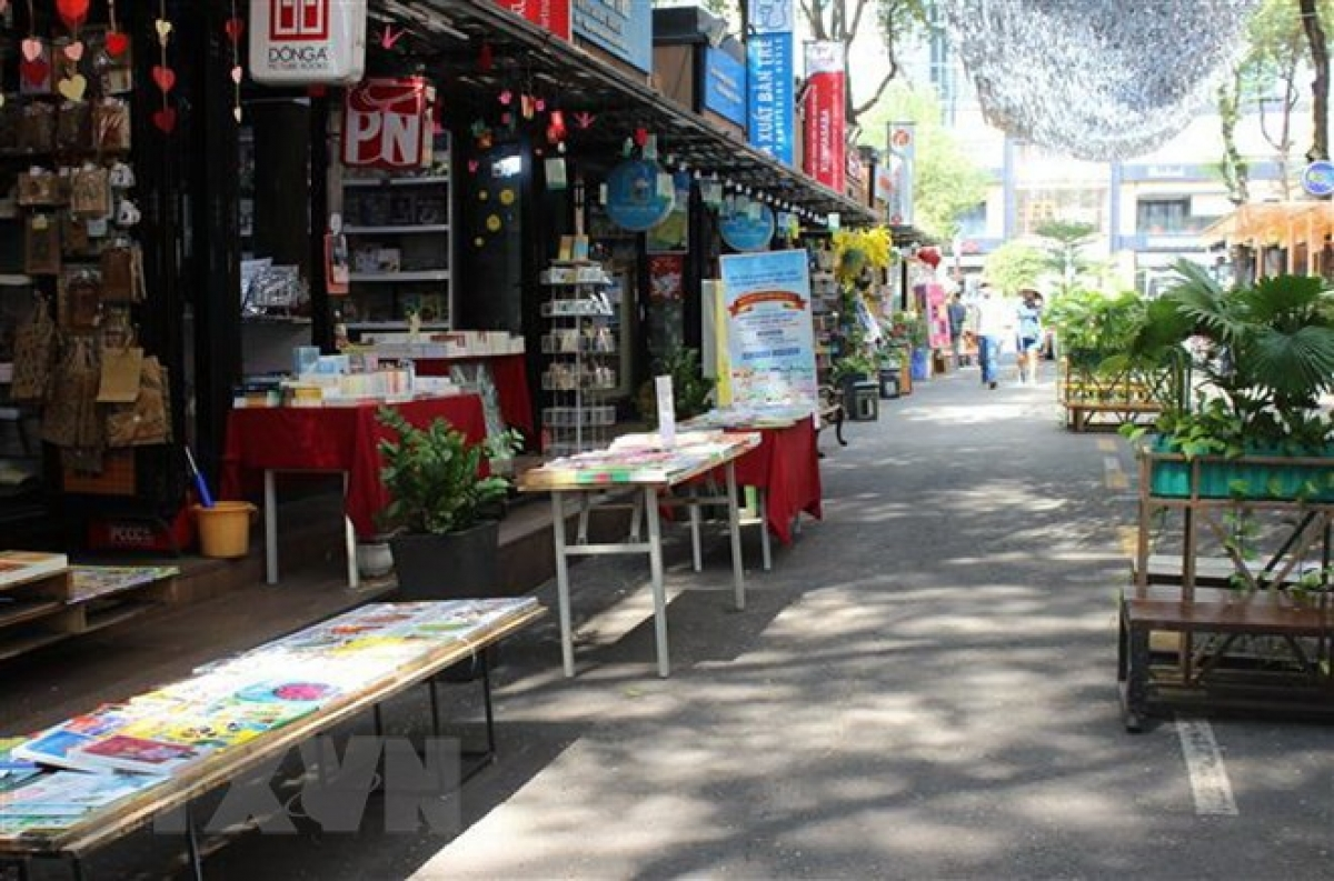 Bookstores on Nguyen Van Binh street - Ho Chi Minh City Book Street in District 1