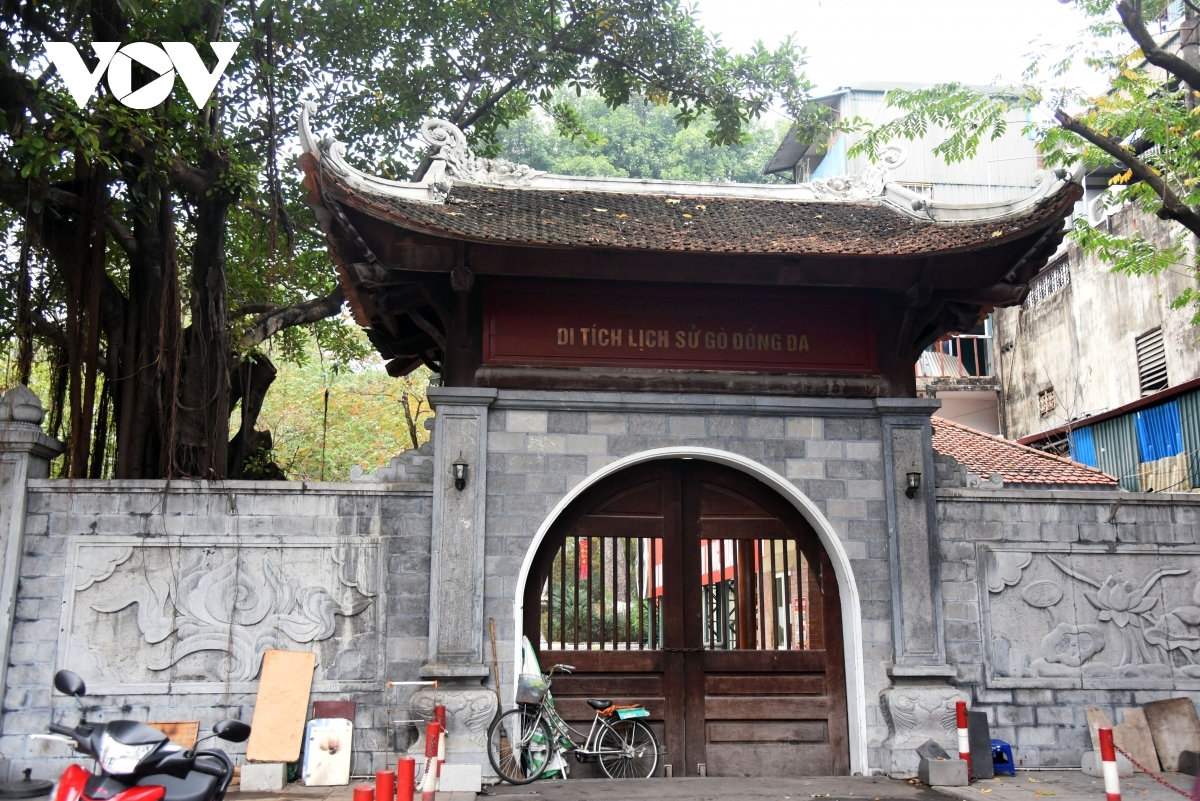 Nam Dong Temple in Dong Da district stops welcoming visitors at the beginning of the year.
