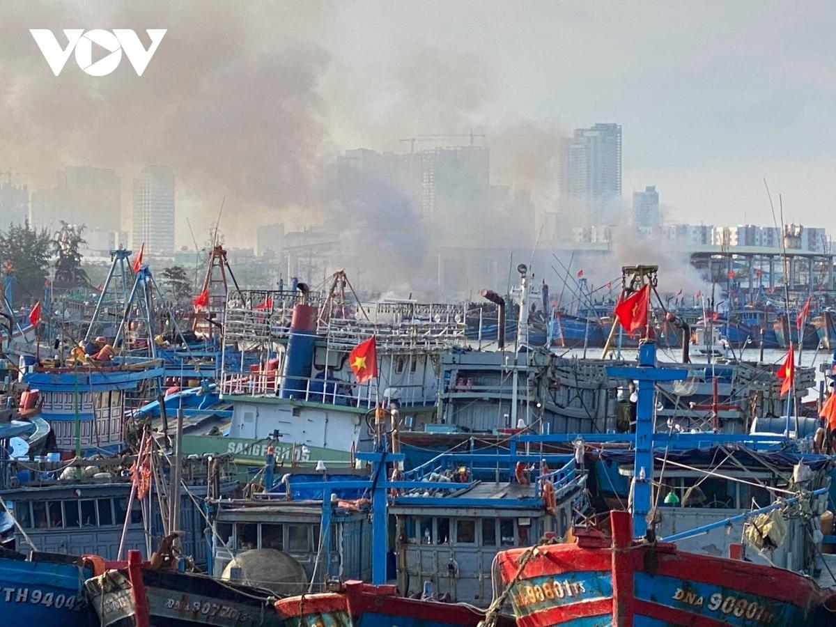 Vụ cháy tàu ngư dân Bình Định hôm 14/2 vừa qua.