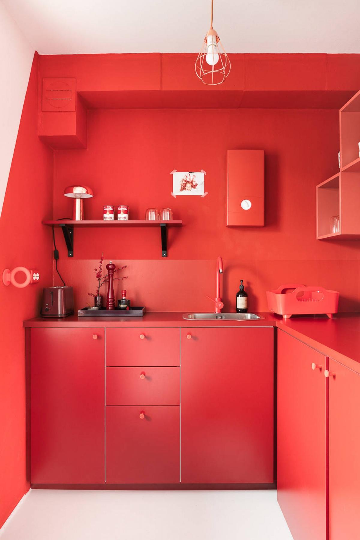 Một ý tưởng cho những ai chuộng màu nóng trong trang trí nội thất.