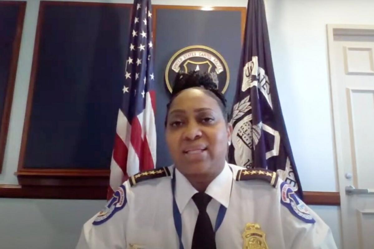 Quyền cảnh sát trưởng của lực lượng Cảnh sát Quốc hội Yogananda D. Pittman. Ảnh: Ủy ban phân bổ ngân sách Hạ viện