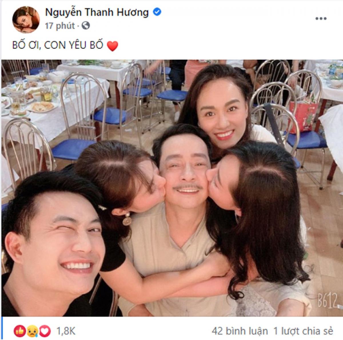 """Thanh Hương nghẹn ngào: """"Con yêu Bố""""."""