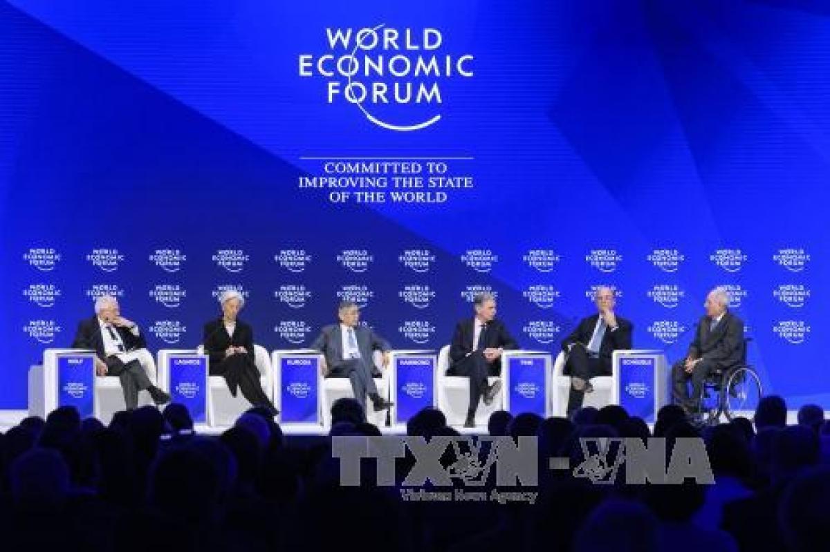 Các đại biểu tham dự Hội nghị lần thứ 47 Diễn đàn Kinh tế thế giới (WEF) ở Davos. Ảnh minh họa: AFP/TTXVN