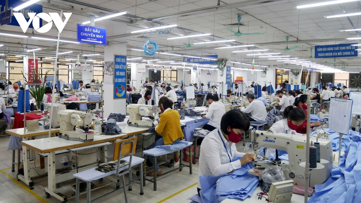 Production lines at Garment 10 Corporation are disinfected to ensure safety of employees.