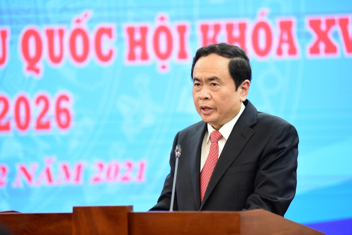 Chủ tịch Ủy ban Trung ương Mặt trận Tổ quốc Việt Nam Trần Thanh Mẫn. Ảnh: Thi Uyên
