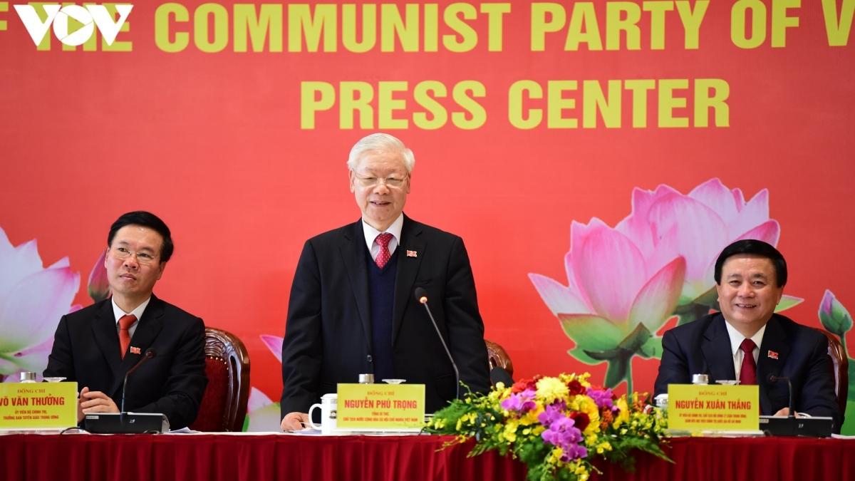 Tổng Bí thư, Chủ tịch nước chủ trì họp báo về kết quả Đại hội XIII của Đảng.