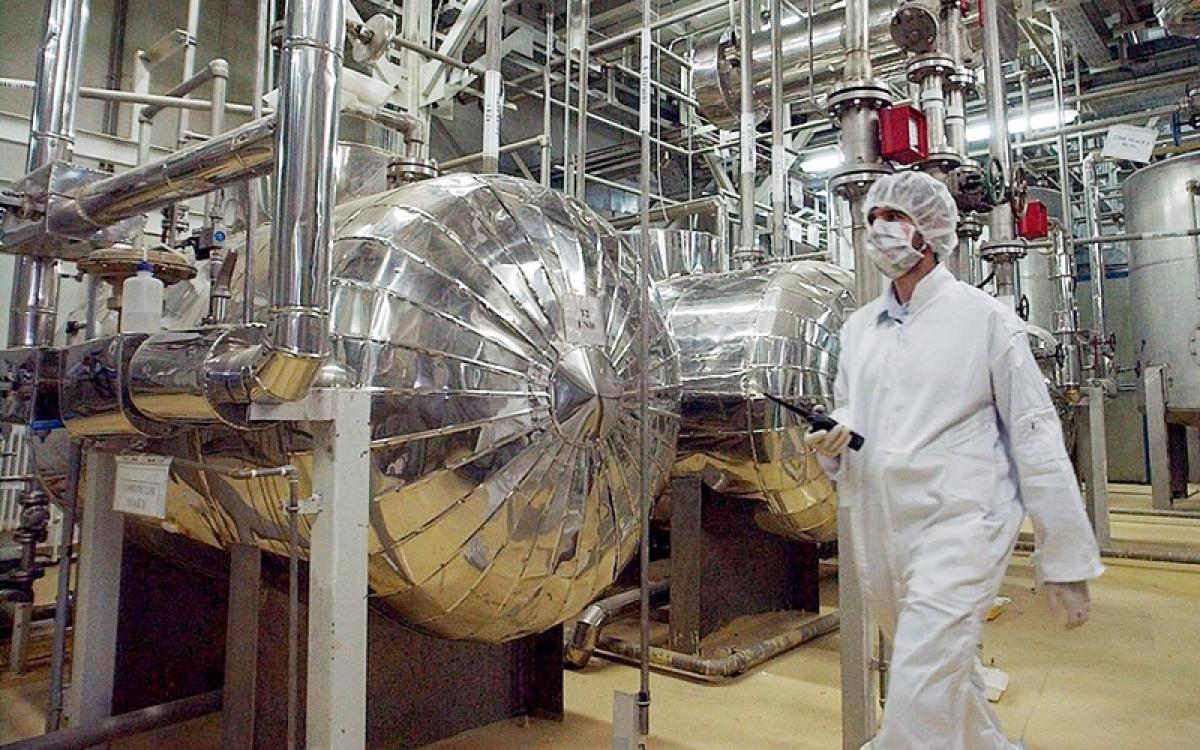 Tại một cơ sở làm giàu urani của Iran. Ảnh: AP