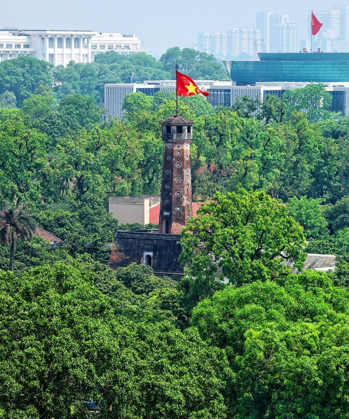 Situated in Hanoi, the capital'sflag tower is one of the city's key symbols and is part of the world heritage site Thang Long Imperial Citadel. (Photo: Vu Minh Quan)