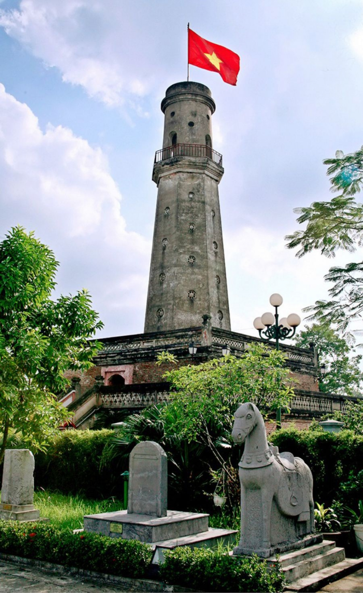 A flag tower in the northern province of Nam Dinh was completed by the Nguyen dynasty back in 1843. Despite being destroyed in during previous conflicts, the site was restored in 1997. (Photo: Nam Dinh province's museum)