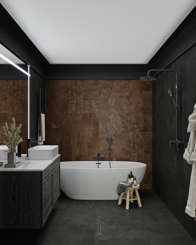 Nhà tắm đơn giản, hiện đại.
