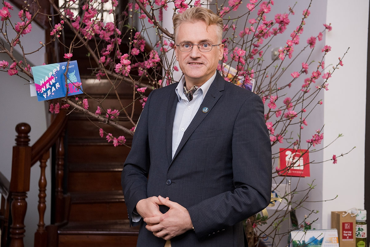 Prof. Dr. Andreas Stoffers, country director of Friedrich Naumann Foundation in Vietnam