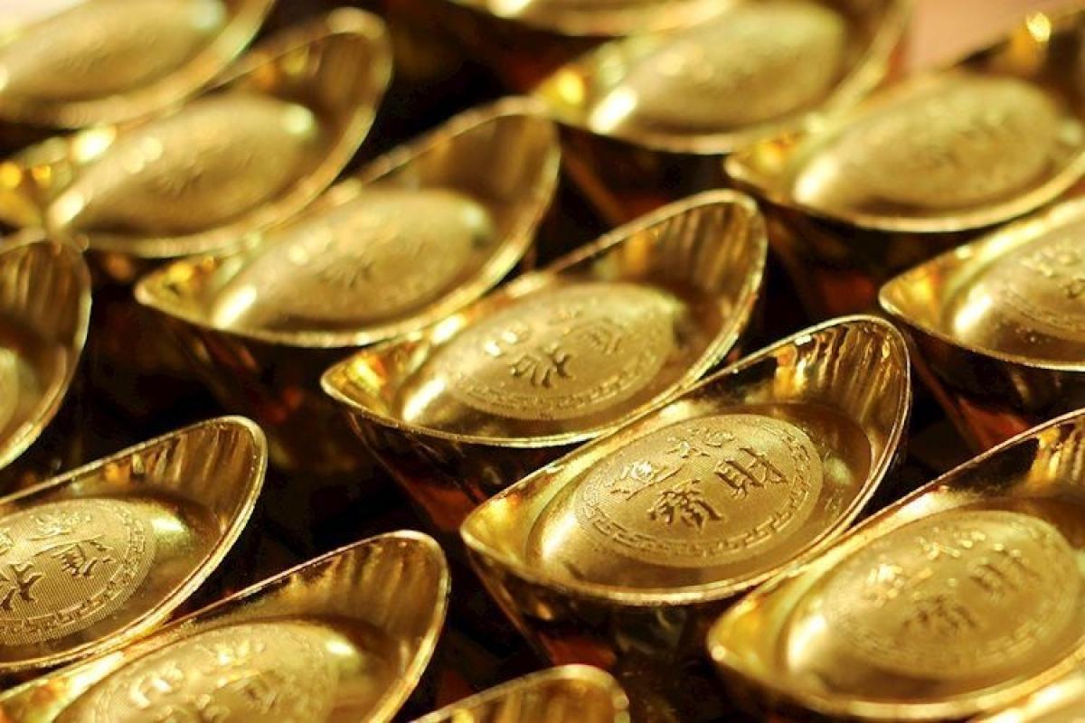 Vàng trong nước đảo chiều tăng mạnh, vượt mốc 57 triệu đồng/lượng. (Ảnh minh họa: KT)