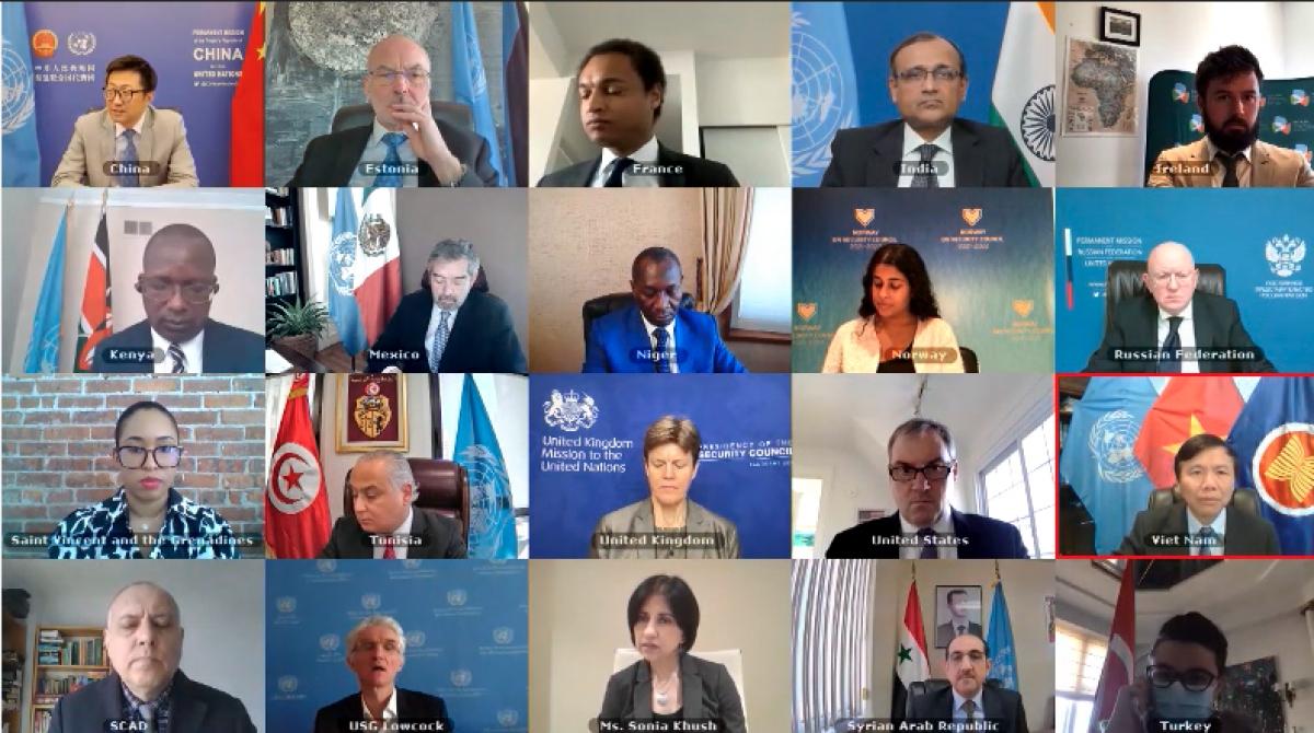 Phiên họp trực tuyến của HĐBA LHQ về tình hình Syria