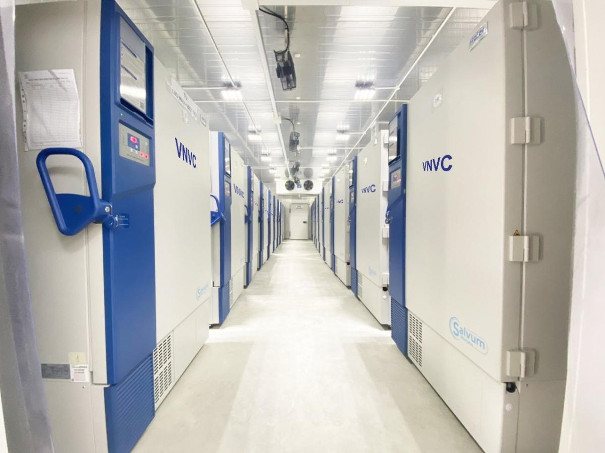 VNVC's super-cold storage in Ho Chi Minh City