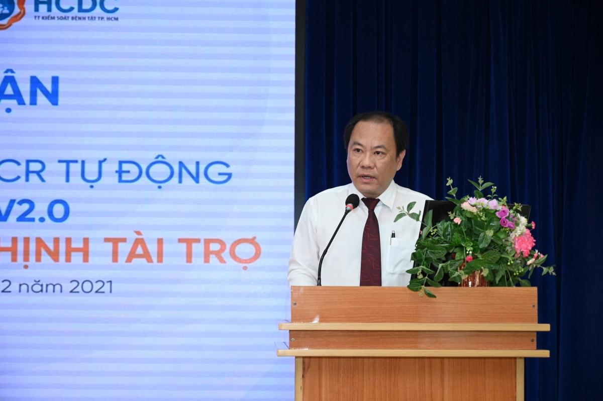 Bác sĩ Nguyễn Hoài Nam bày tỏ lời cảm ơn đến Tập đoàn Hưng Thịnh vì đã chung tay cùng Thành phố và ngành Y tế trong công tác phòng, chống dịch Covid-19.