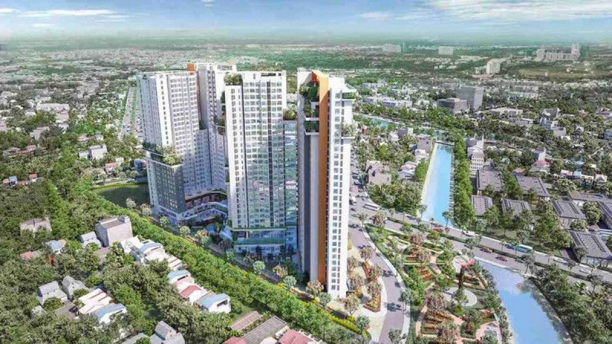Phối cảnh dự án Aster Garden Towers do Thuduc House đang đầu tư.