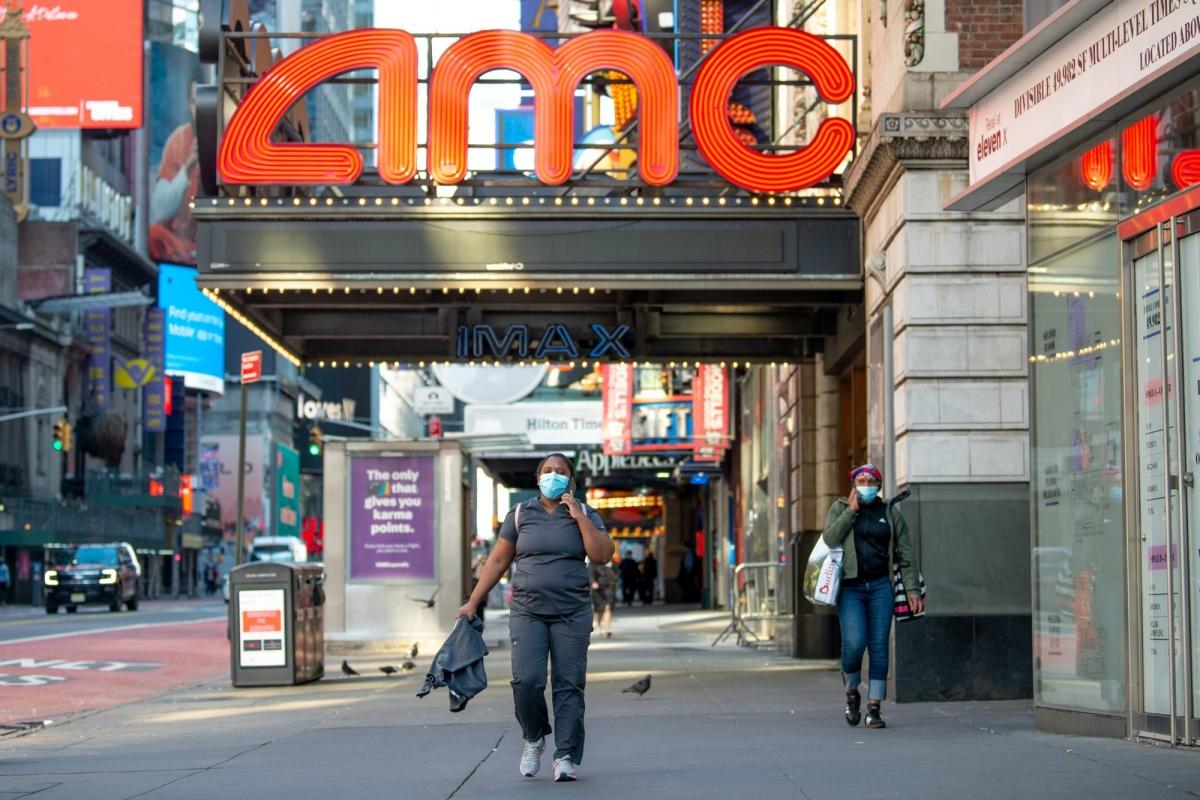 Rạp AMC tại New York, Mỹ; Nguồn: Getty Images
