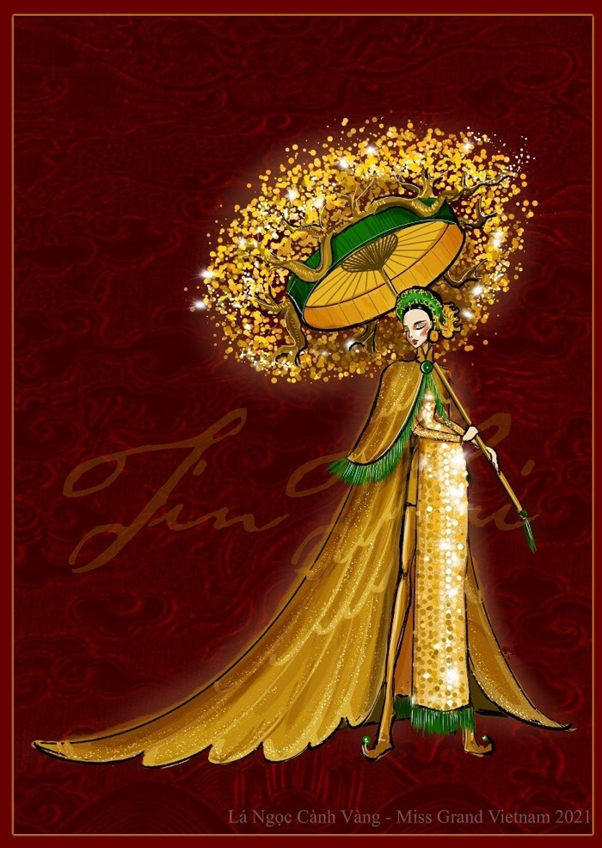 The royal culture of the ancient capital of Hue is the main inspiration for the outline of the second national costume.