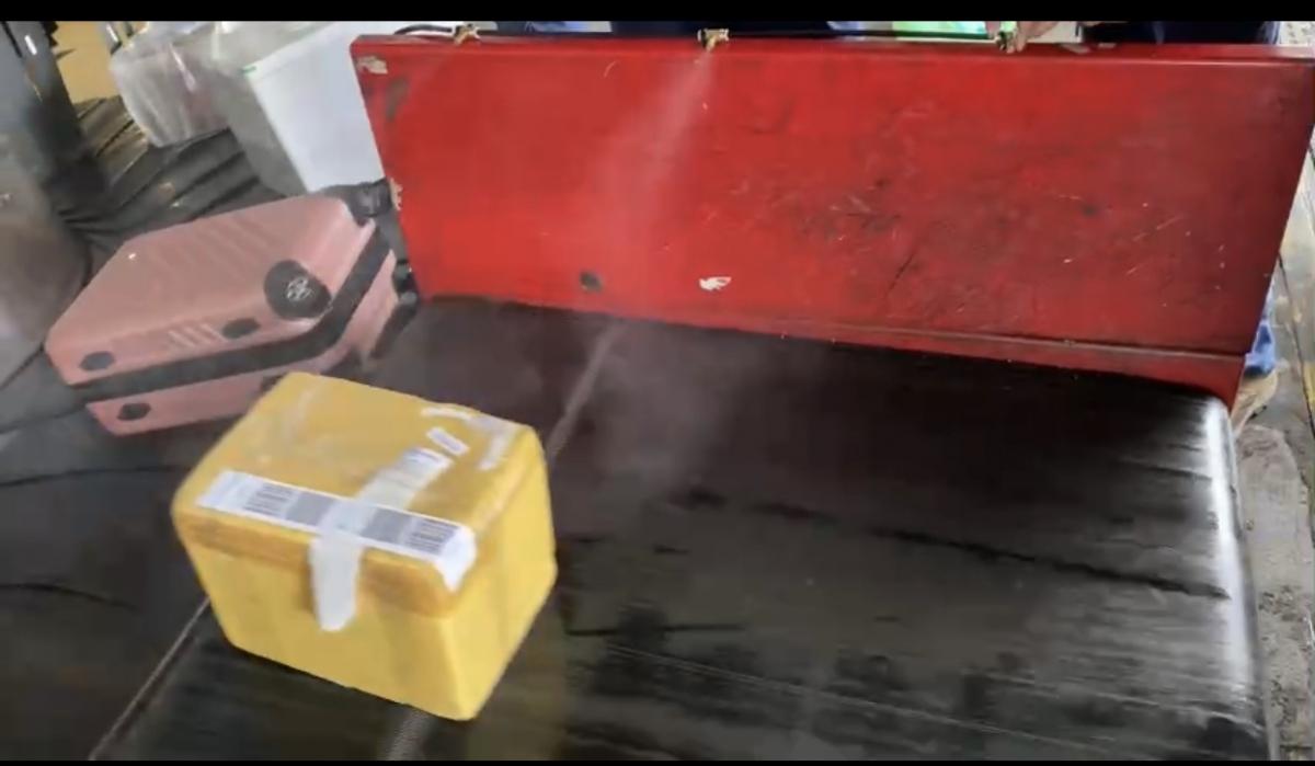 Khử khuẩn toàn bộ hành lý của khách để chống Covid-19.