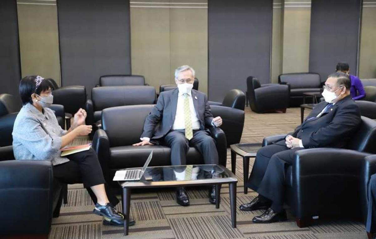 Ngoại trưởng Indonesia và người đồng cấp Thái Lan, Myanmar tại Bangkok. Nguồn: Bộ Ngoại giao Indonesia
