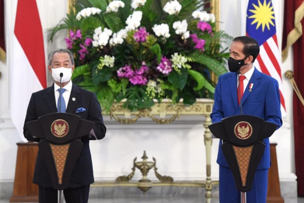 Tuyên bố chung sau cuộc gặp giữa hai nhà lãnh đạo. Nguồn: Antara Foto