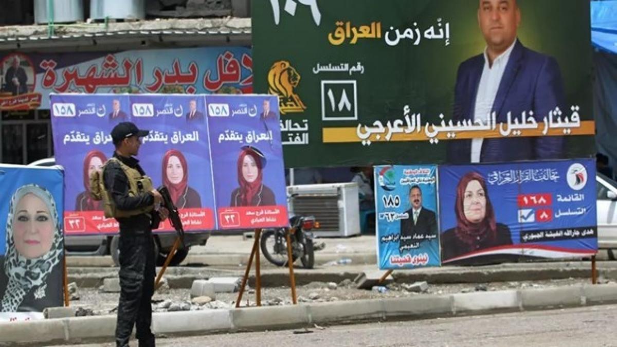 Hình ảnh các ứng cử viên trong cuộc bầu cử tại Iraq. (Ảnh: AFP)